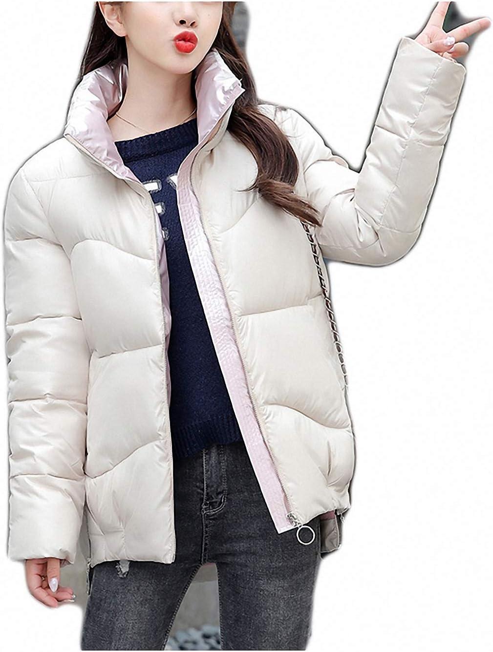 Winter Jacket Stand-Callor Coat Women Jackets Winter Warm Woman Clothing Casual Parkas White XXXL