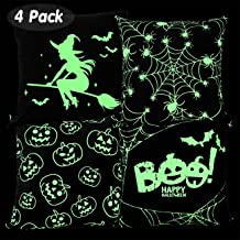 Vileafy Creative Cushion Covers, Soft Polyester Throw Pillow Covers 18x18 inches, Home & Party Decorations Set of 4, Suitable for Sofa, Bedroom, Car, Couch (NO Pillow Included)