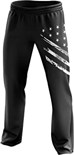 Tactical Pro Supply American Flag Sweatpants - Joggers for Men Women Fitness Workout