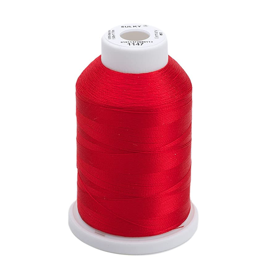 Sulky Of America 268d 40wt 2-Ply Rayon Thread, 1500 yd, Christmas Red