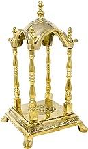 ShalinIndia Indian Hindu Pooja Mandir for Home Decor 10X6X6 Inch Puja Temple Brass Metal 2.29 Kg Ready to Assemble Kit