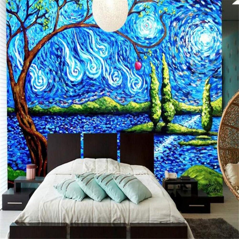 Pbldb Arte Abstracto Moderno Wallpapers 3D Murales De Pintura De La Mano Para La Sala De Estar Dormitorio Naturaleza Paisaje Parojo Papel Decoración Para El Hogar-200X140Cm