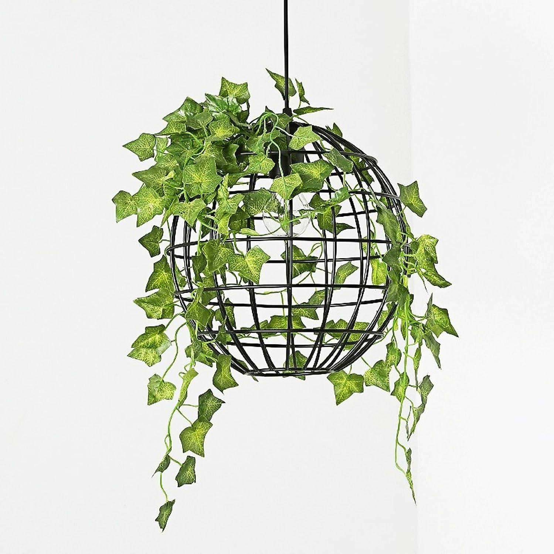 MILUCE Eisen Kunst Kronleuchter - American-Art Runde Pflanze Beleuchtung Industrial Wind Aisle Bar Cafe Lampe E27 Lichtquelle