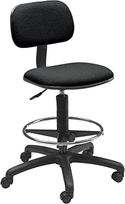 Safco Products Economy Extended Height Chair (Additional options sold separately), Black