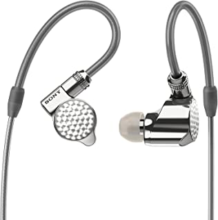Sony IER-Z1R - Auriculares in-Ear de Alta resolución (High-End, Triple Unidad de diafragma, Cable OFC (Cobre Libre de oxígeno), Color Plateado