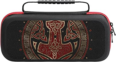 $26 » The Hammer Of Thor Black Red And Gold Case Compatible with Switch Case Protective Carry Bag Hard Shell Storage Bag Portabl...