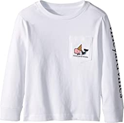Long Sleeve Dapper New Years Pocket Tee (Toddler/Little Kids/Big Kids)