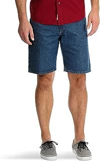 Wrangler Medium Stone Relaxed Fit at Knee 5 Pocket Denim Shorts
