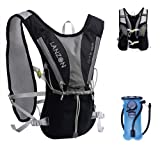 LANZON Hydration Pack   2L or 3L Water Bladder   Marathon Running Vest, Hiking Cycling Backpack   FDA Approved, Leak-Proof Hydration ReservoirLANZON ...
