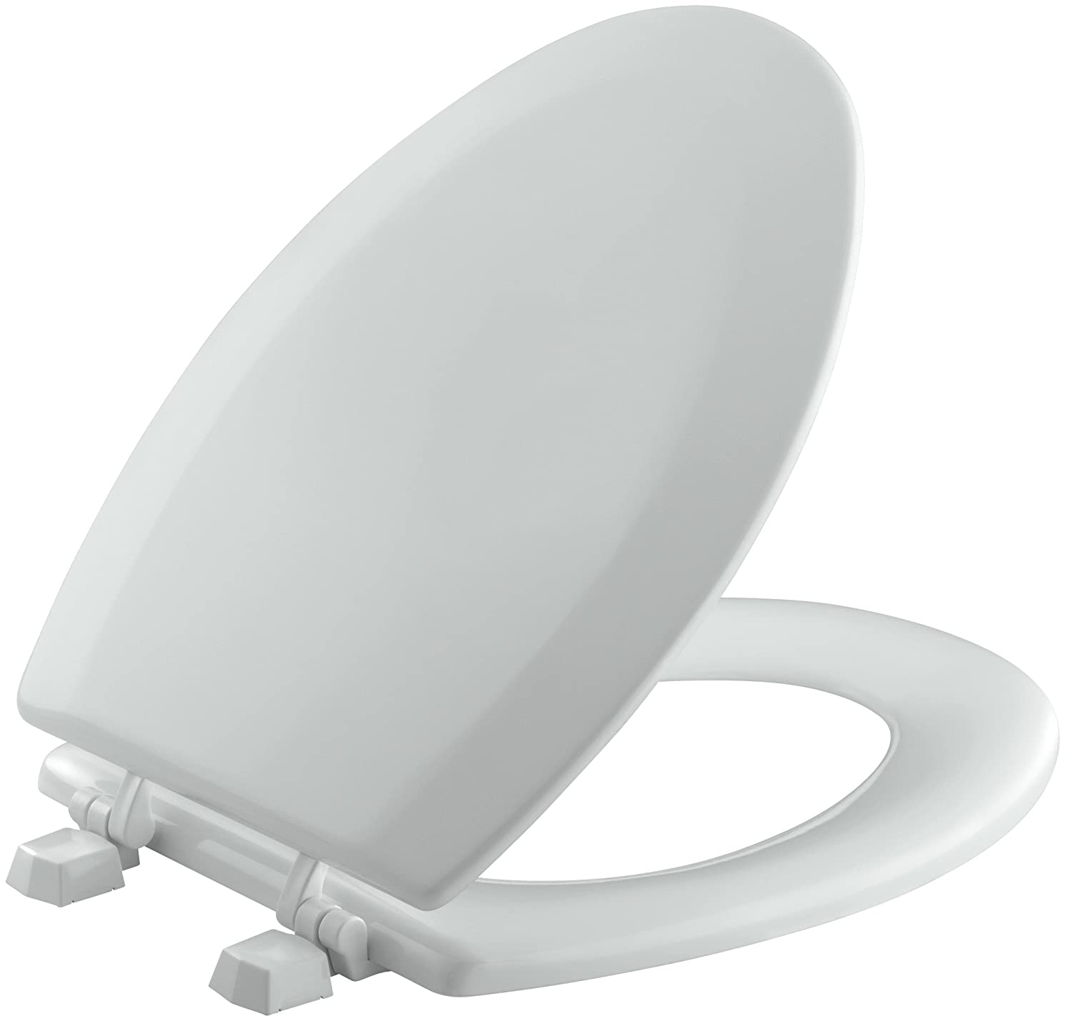 KOHLER K-4712-T-95 Triko Elongated Molded-Wood Toilet Seat with Color-Matched Hinges, Ice Grey