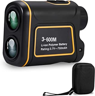 Deeteck Compact Golf Rangefinder,6X Rechargeable Laser Hunting Range Finder,600 Yards Accurate Distance Finder with FMC Optics Clear View,Support Scan,Speed,Angle,Flag Lock,Vertical & Horizontal