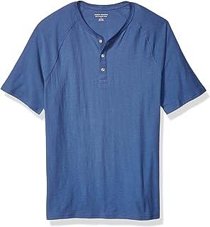 Amazon Essentials Men's Slim-fit Short-Sleeve Slub Henley T-Shirt