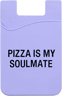 About Face Designs Pizza Is My Soulmate On Lavendar 3.5 Inch Silicone Phone Pocket