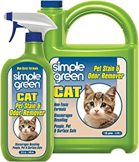 SIMPLE GREEN Cat Stain & Odor Remover - Enzyme Cleaner for Cat Urine, Feces, Blood, Vomit