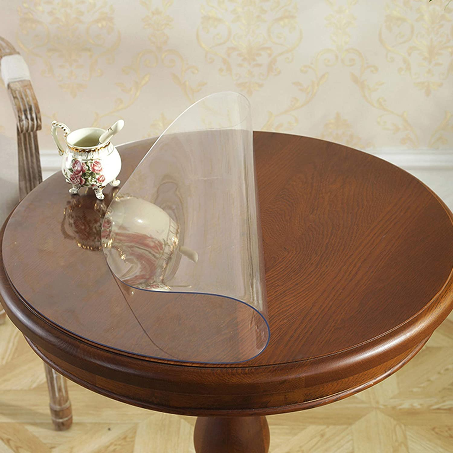 Geovne Clear Table Max 56% OFF Cover Protector Round Thick Pad 2mm Tas 5% OFF