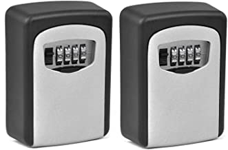 Combination Lock Key Safe Storage Box Padlock Security Home Outdoor (2Pack, Model: 4)