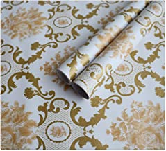 DWIND D1295 Peel and Stick Wallpaper Damask Contact Paper Self Adhesive For Furniture Kitchen Countertop Table Door DIY Ch...