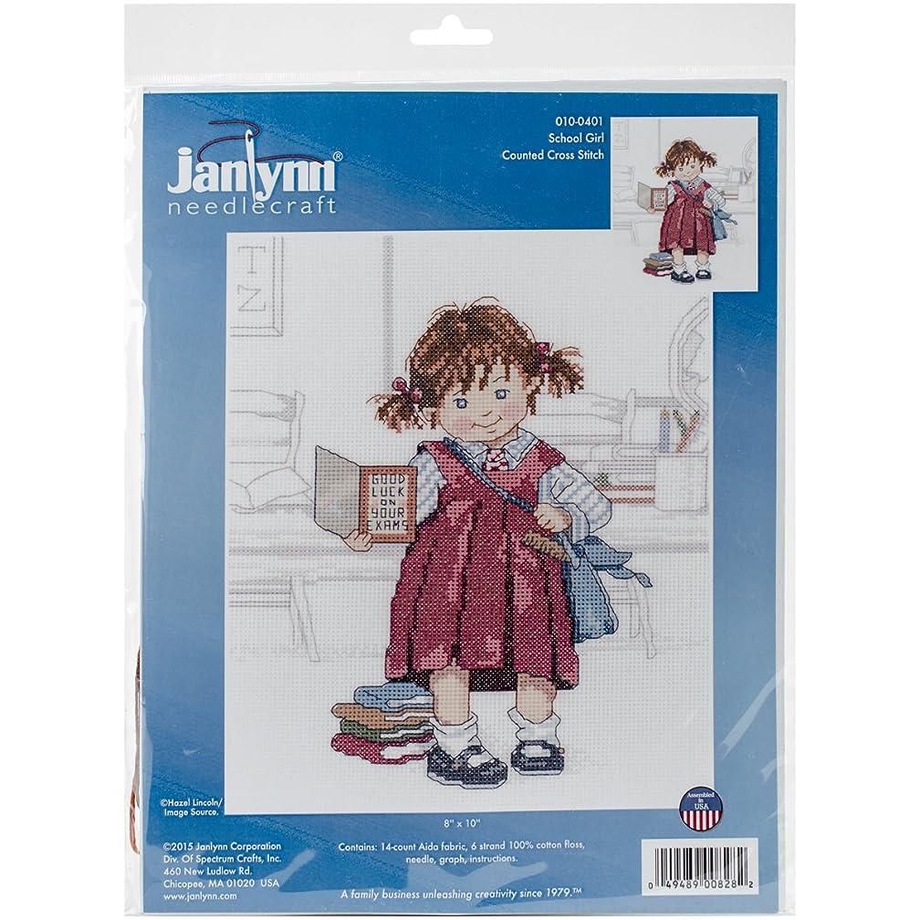 Janlynn 010-0401 School Girl Cross Stitch