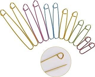 ITME Ensemble de Support de Point 6 Tailles en Aluminium Porte-point à Tricoter Multicolore Porte-aiguille à Tricoter Ense...
