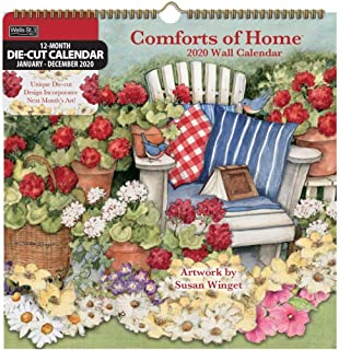 2020 Comforts of Home Diecut Wall Calendar, by Wells Street by LANG