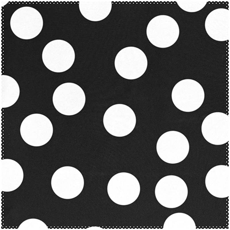 YATELI Placemats Black White Polka Dot 12x12 Inch Heat Resistant Set Of 4 Non Slip For Dinning Kitchen