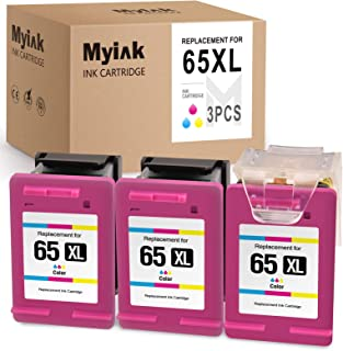 MYIK Remanufactured Ink Cartridge for HP 65XL 65 XL Eco-Saver to use with Envy 5055 5052 5012 5010 5030 DESKJET 3755 2622 ...