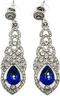 المرأة مكعب الزركون أقراط مسمار متدلي الأذن مجوهرات للبنات