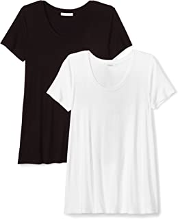 Amazon Brand - Daily Ritual Women's Jersey Short-Sleeve Scoop Neck Swing T-Shirt