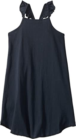 Super Soft Ruffle V-Back Cami Shirttail Dress (Toddler/Little Kids)