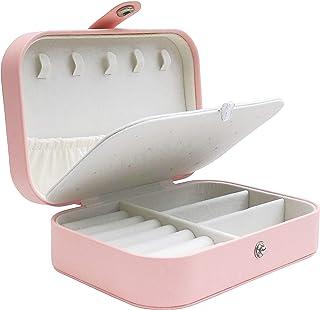 جعبه جواهرات برای سفر توسط T-BORG - سازمان دهنده ذخیره سازی گوشواره گردنبند حلقه ای زیبا و زیبا