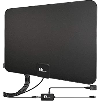 HDTV Antenna, TV Antenna Digital Amplified Indoor HD, Amplifier Signal Booster Support 4K 1080P UHF VHF Freeview HDTV Channels with Coax Cable