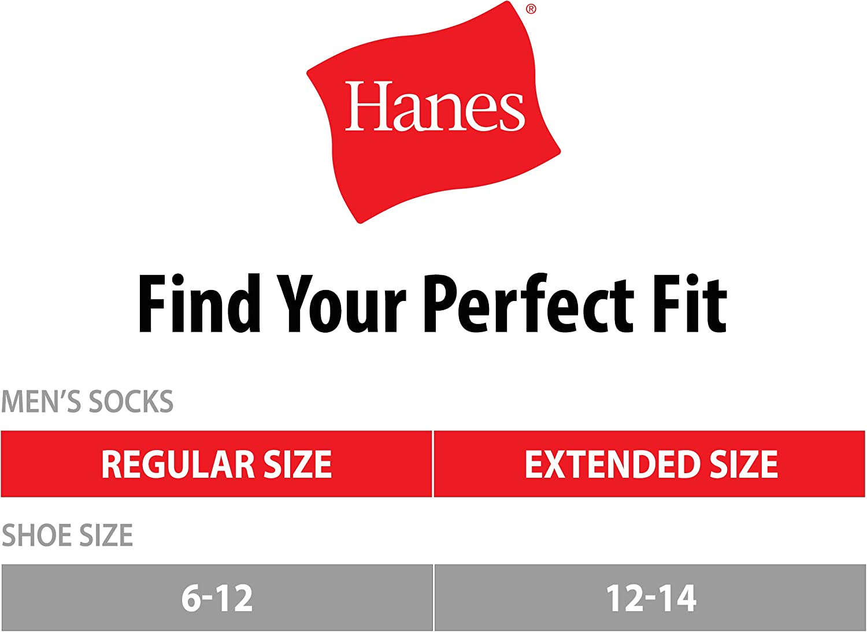 Hanes Men's Big and Tall Active Cool 12-Pack Crew Socks Black,BIG Shoe: 12-14 / Sock: 13-15