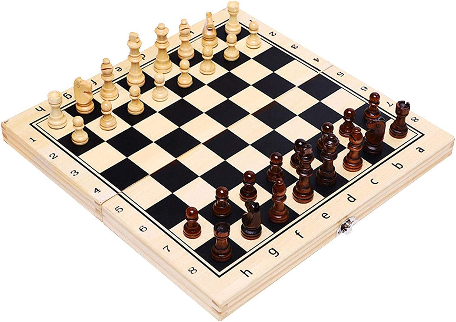 MAGRF Reservation Chess Set, Board Max 67% OFF Wood Set,Solid Backgammon