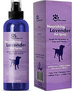 Natural Pet Spray – Aromatherapy Lavender Essential Oil & Primrose Fur Deodorizer - For Dogs & Puppies – Cat Grooming Spra...