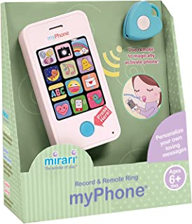 Mirari myPhone Toy Phone for Babies/Toddlers Ages 6 Months and Up--Record Personalized Messages and Use Remote to Magically Make it Ring!