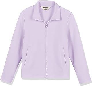 Kid Nation Kids' Cozy Interlock Zip-Up Standing Collar Sweatshirt for Boys or Girls,Age(4-12Years)