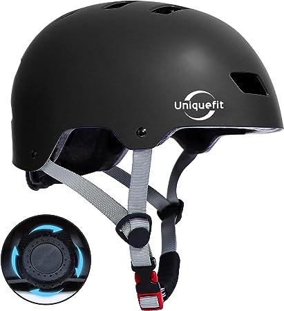 UniqueFit Casco para niños y Adultos Casco Protector Ajustable para patineta, Ciclismo, patín, Casco Certificado por CPSC y ASTM