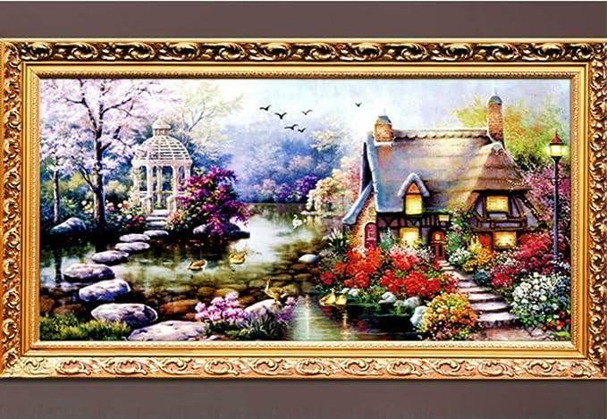 YGS-32 DIY 5D Diamond Mosaic Landscapes Garden lodge Full Diamond Painting Cross Stitch Kits Diamonds Embroidery Home Decoration