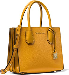 MICHAEL Michael Kors Mercer Pebbled Leather Accordion Crossbody - Marigold