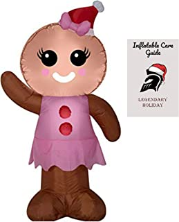 Gingerbread Girl Inflatable with Inflatable Care Guide 4 ft