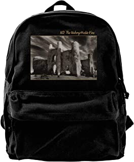 NJIASGFUI Mochila de lona U2 The Unforgettable Fire Rucksack Gym Senderismo Laptop bolsa de hombro para hombres y mujeres
