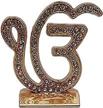 Target Store Sikh Religious Symbol EK Onkar Studded Idol   Ik Onkar Studded Gold Metal Statue for Car Dashboard   Mandir M...