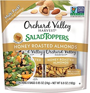 ORCHARD VALLEY HARVEST Salad Toppers, Honey Roasted Almonds,  0.85 oz (Pack of 8), Non-GMO, No Artificial Ingredients