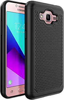 Samsung Galaxy J2 Prime/J2 Prime G532M/Galaxy Grand Prime Plus G530/J2 Prime 2016 Unlocked SM-G532M Duos 4G LTE US Case, OEAGO [Shockproof] Hybrid Dual Layer Defender Protective Case-Black