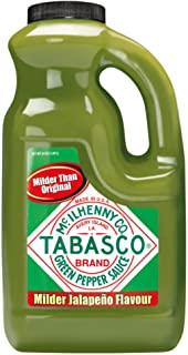 TABASCO Green Pepper Sauce, Made from Green Jalapeno Peppers, Mild and Zesty, 1.89 l