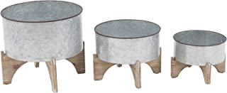 Deco 79 98459 Planter with Stand, Gray/Brown