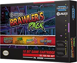 Retro-Bit Europe Jaleco Brawler's Pack PAL Version SNES Cartridge for Super NES (Nintendo Super NES)