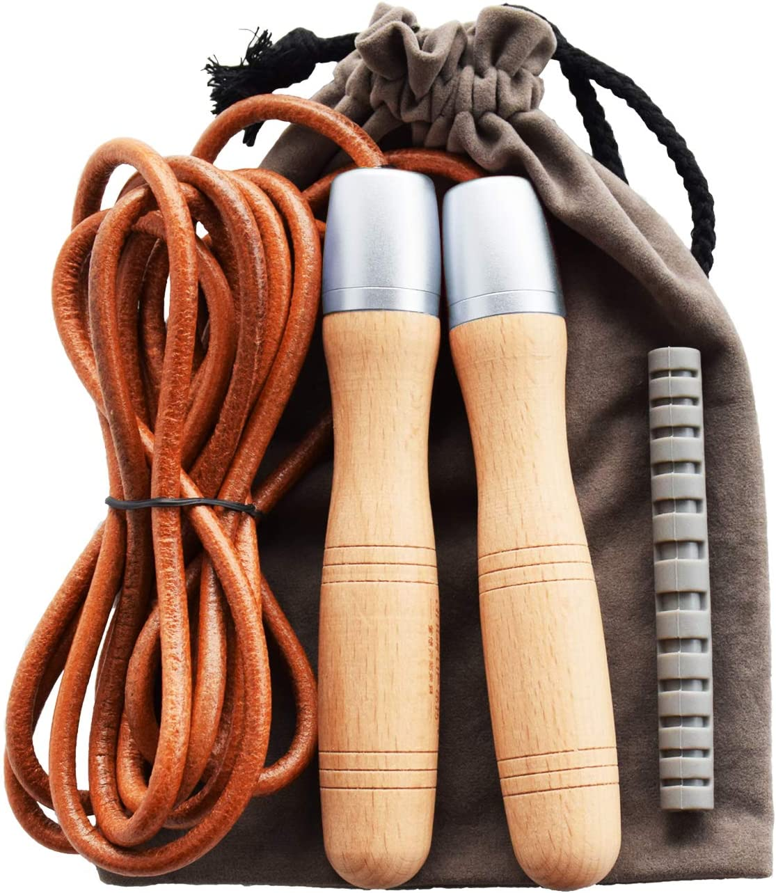 Ranking New sales TOP15 Ahomie Leather Jump Rope Adjustable wit Jumping Skipping Ropes
