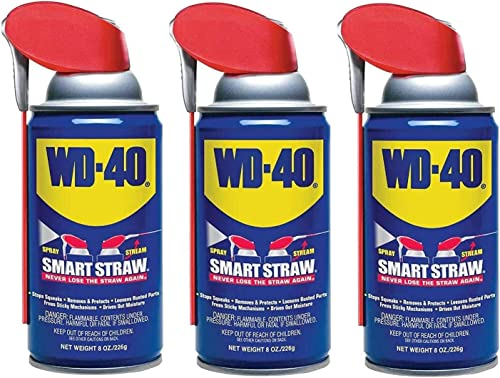 WD-40 Multi-Use Product with SMART STRAW SPRAYS 2 WAYS, 8 OZ [3-PACK]