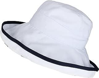 Scala Women's Reversible 5 Inch Brim Polka Dot UPF 50+ Travel Sun Hat